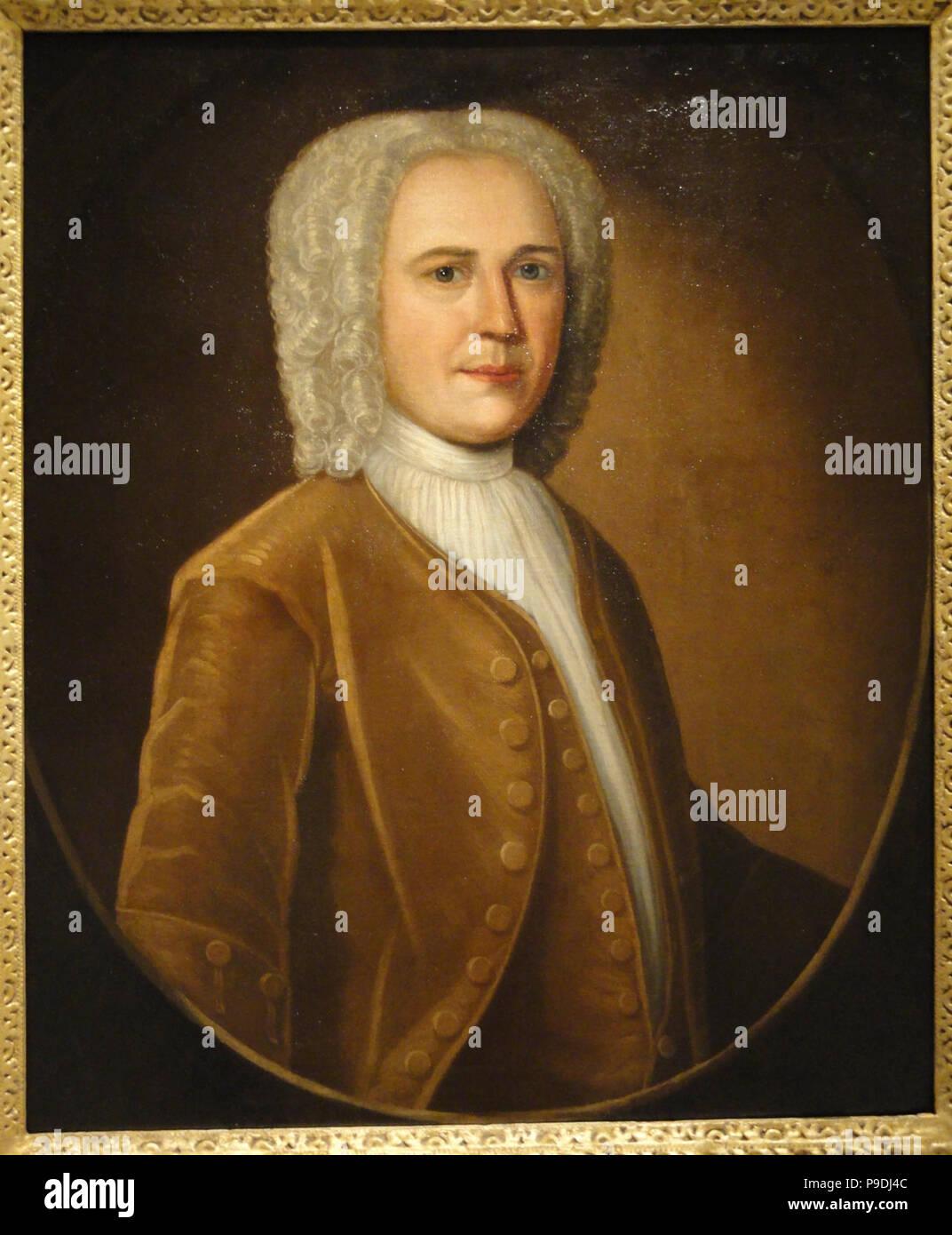 A Member of the Livingston Family, circa 1740, by John Smibert - SAAM - DSC00871. - Stock Image