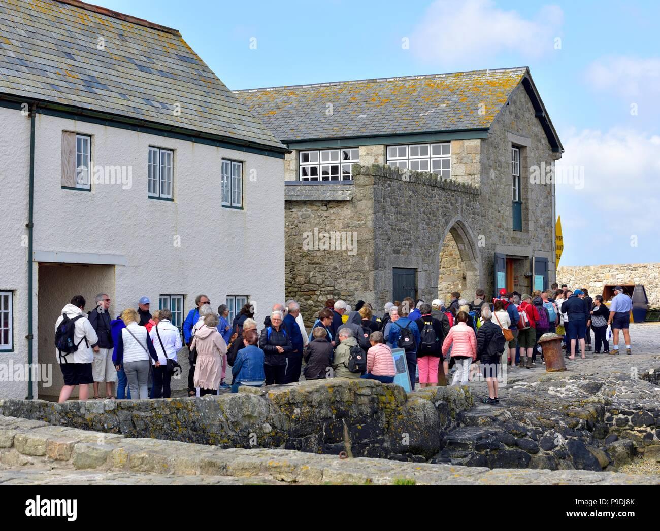 St Michael's Mount,Karrek Loos yn Koos,Marazion,Cornwall,England,uk Stock Photo