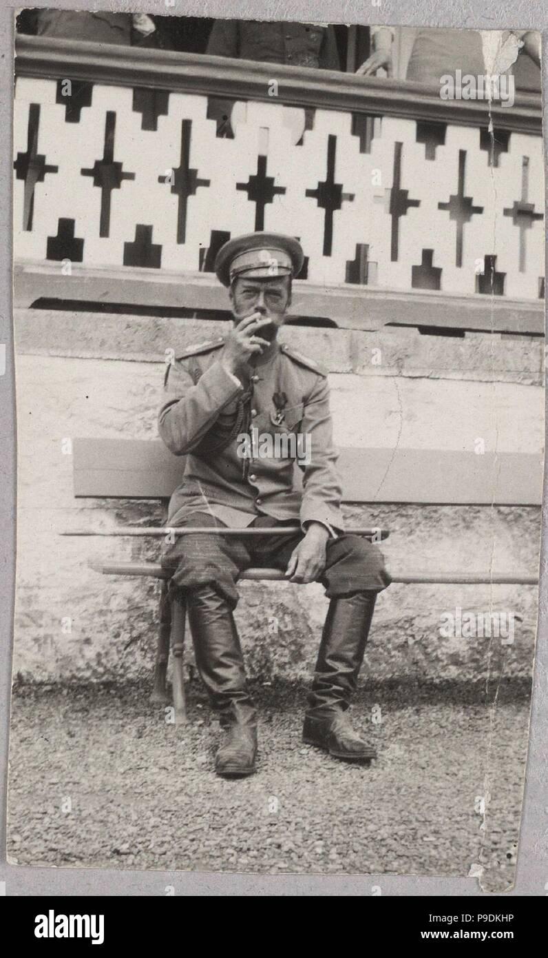 Tsar Nicholas II in Livadiya. Museum: PRIVATE COLLECTION. - Stock Image