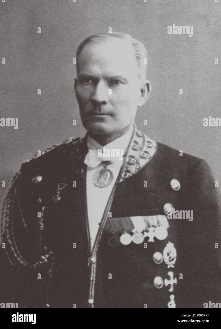 Alexei Trupp (1858 - 1918), footman of the Romanov Family. Museum: PRIVATE COLLECTION. - Stock Image