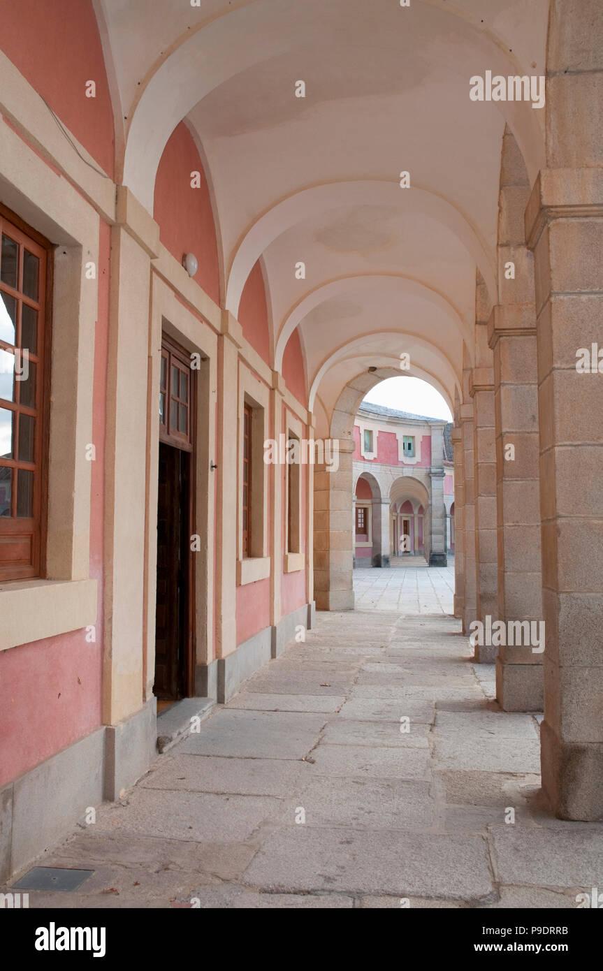 Arcade. Riofrio palace, Segovia, Spain. - Stock Image