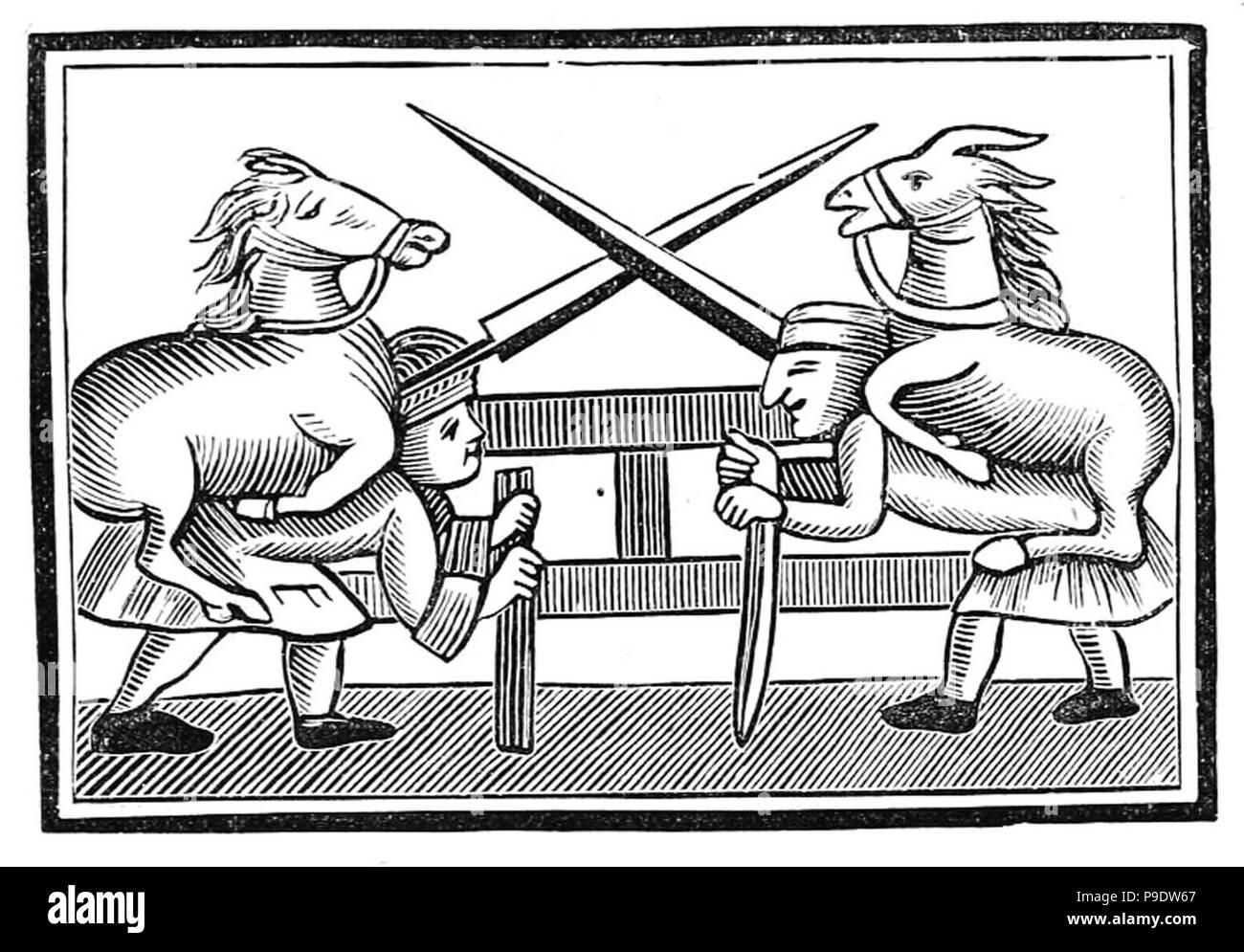 vintage woodcut illustration - Stock Image