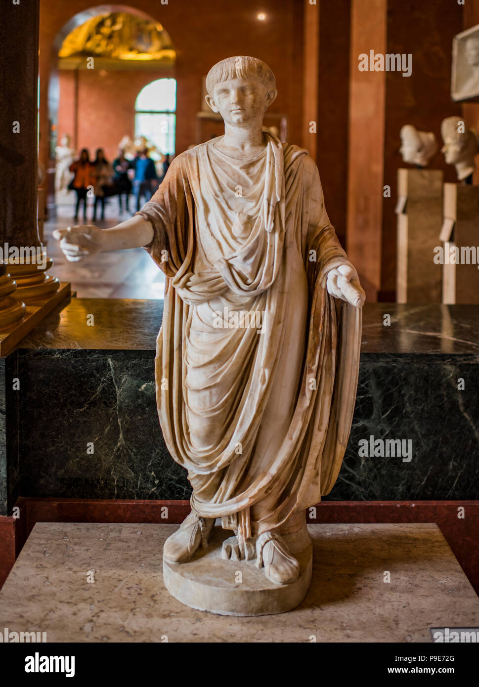 Paris; France- May 03; 2017: Child-Emperor Neron from 54 to 68 AD. Around 50 AD. Louvre - Stock Image