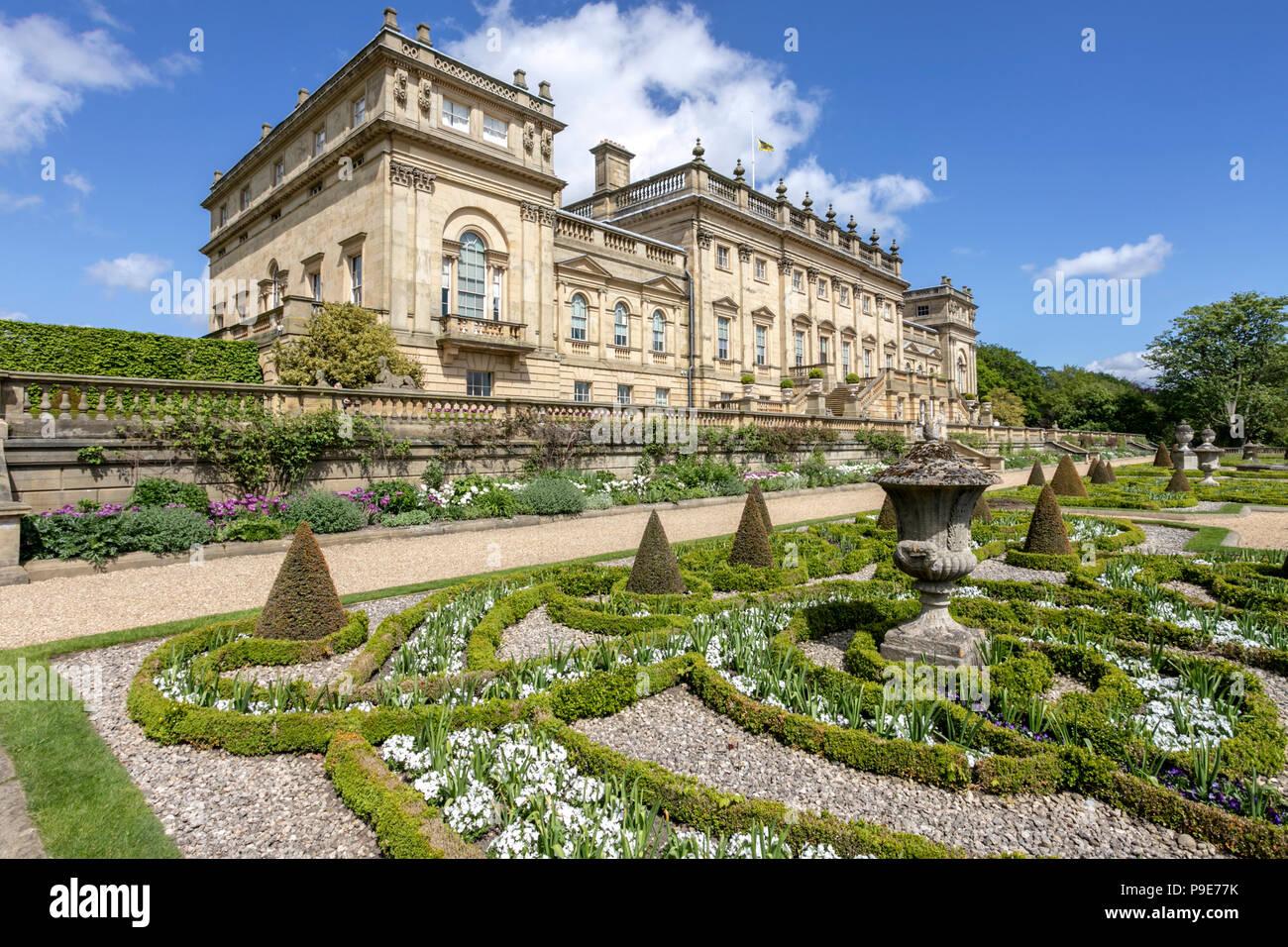 Harewood House near Leeds, West Yorkshire UK - Stock Image