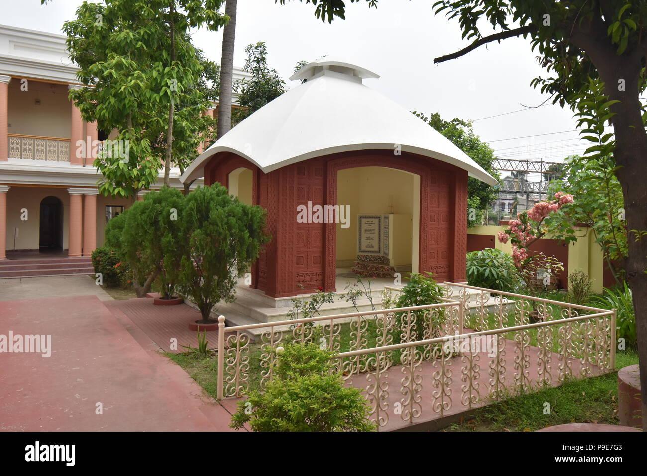 Birthplace of Bankim Chandra Chatterjee at Naihati, North 24 Parganas, West Bengal, India - Stock Image