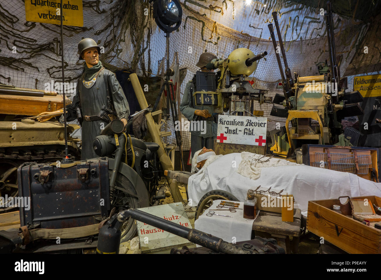 Diorama Of German World War Two Dressing Station At The D Day Omaha Museum At Vierville Sur Mer Calvados Normandy France Stock Photo Alamy