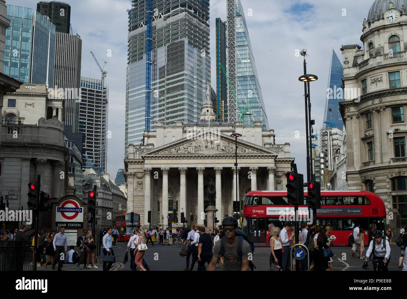 Bishopsgate, London's newest skyscrapers - Stock Image