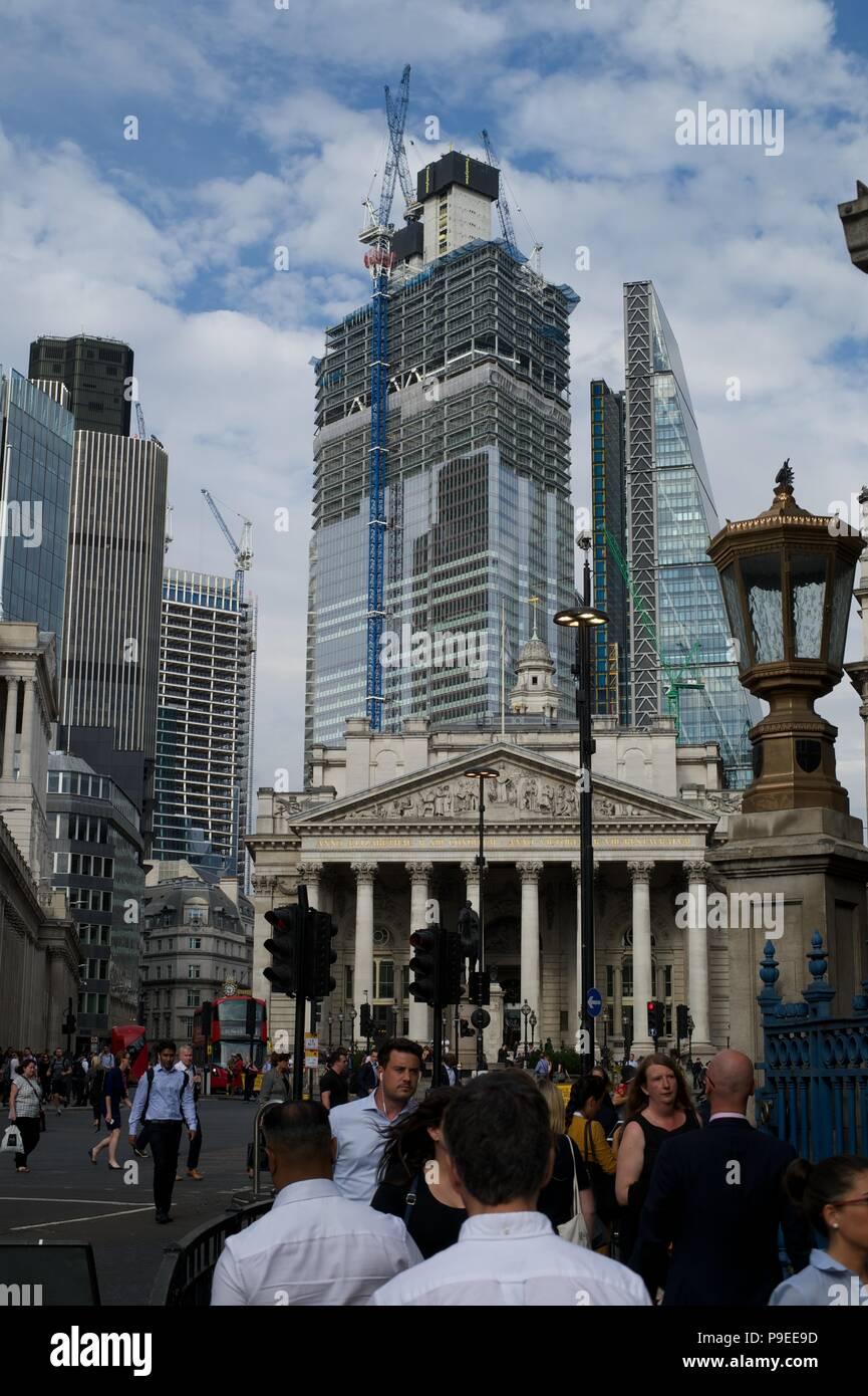 Bishopsgate, London's newest skyscrapers - Stock Image