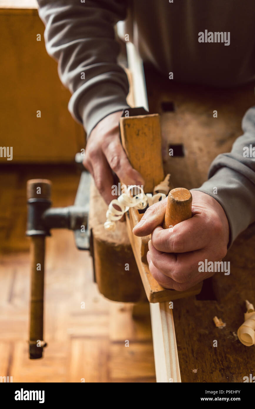 Carpentry Carpenter Woodworker Woodworking Wooden: Wood Shavings Carpenter Stock Photos & Wood Shavings