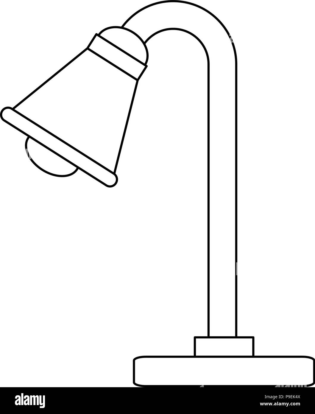 desk lamp isolated icon - Stock Image
