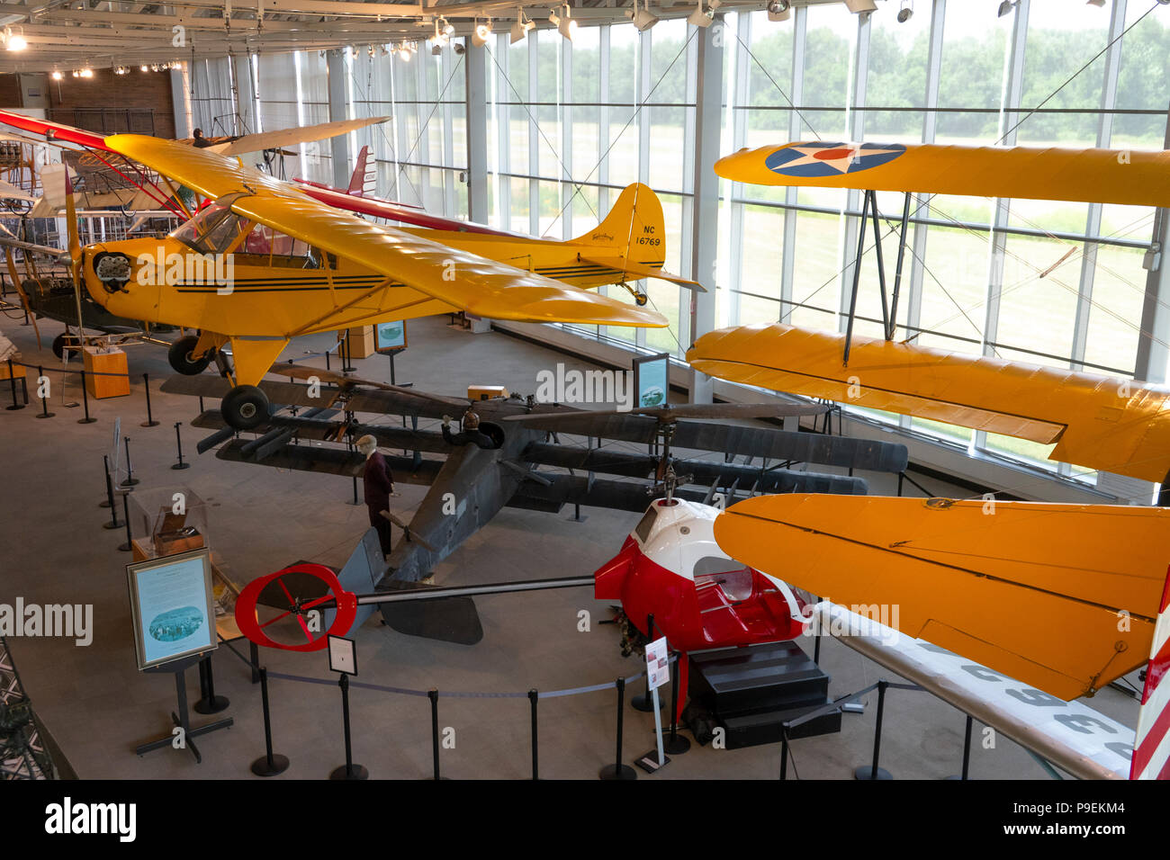 USA Maryland MD College Park Aviation Museum the oldest continuously used airport in the world civil aviation - Stock Image