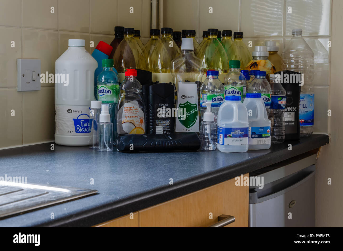 Plastic Domestic Uses Stock Photos & Plastic Domestic Uses Stock