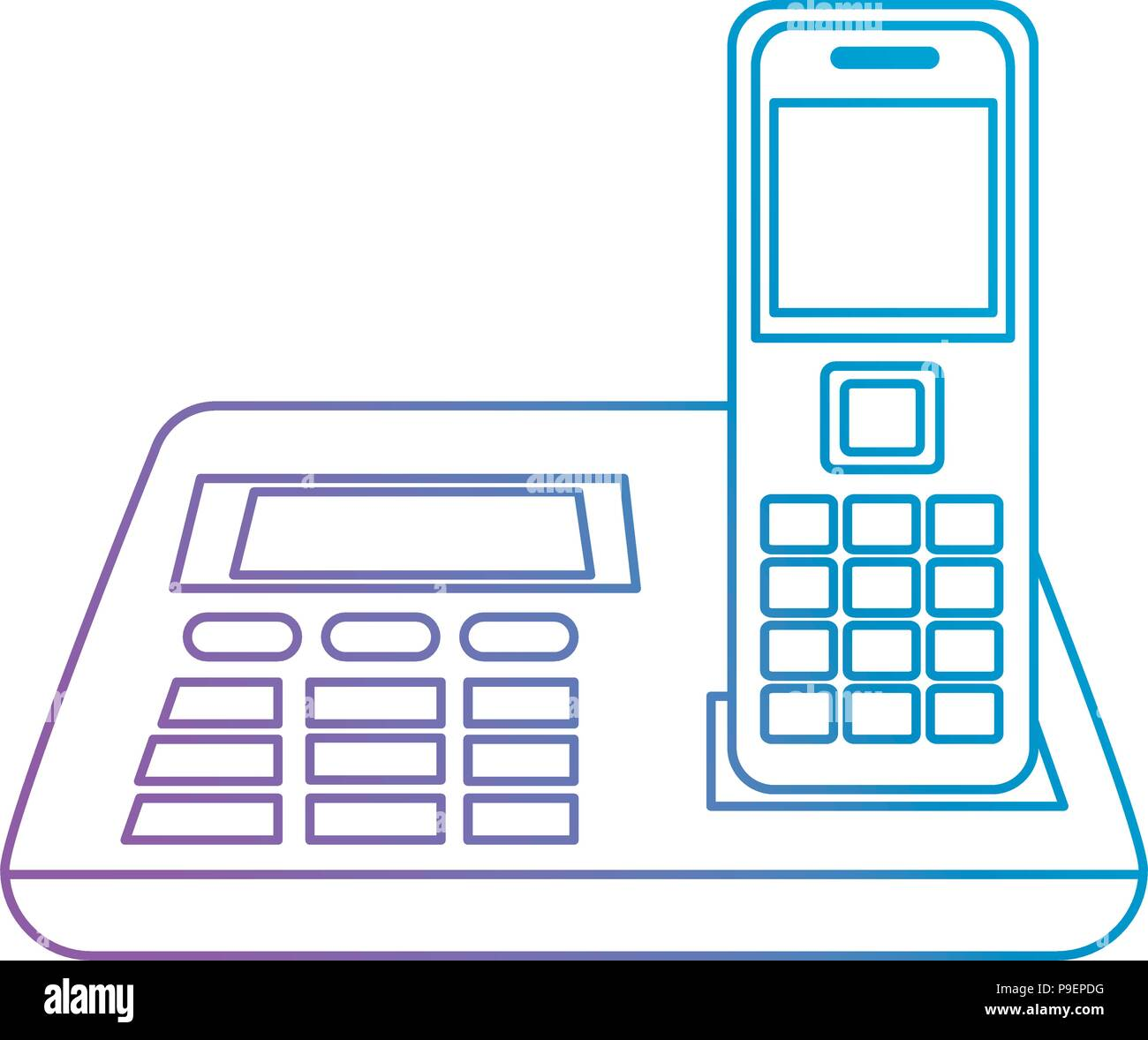 office digital telephone icon - Stock Vector