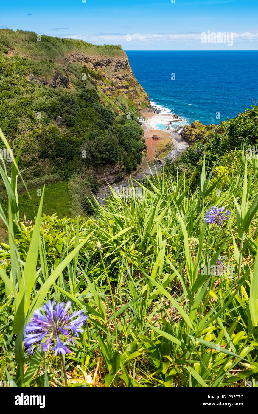 Ponta Ribeira on the northeast coast of Sao Miguel, The Azores - Stock Image