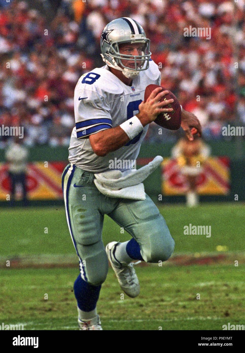7f9f10b1a99 San Francisco 49ers vs. Dallas Cowboys at Candlestick Park Sunday, November  10, 1996. Cowboys beat 49ers 20-17. Dallas Cowboys quarterback Troy Aikman  ...
