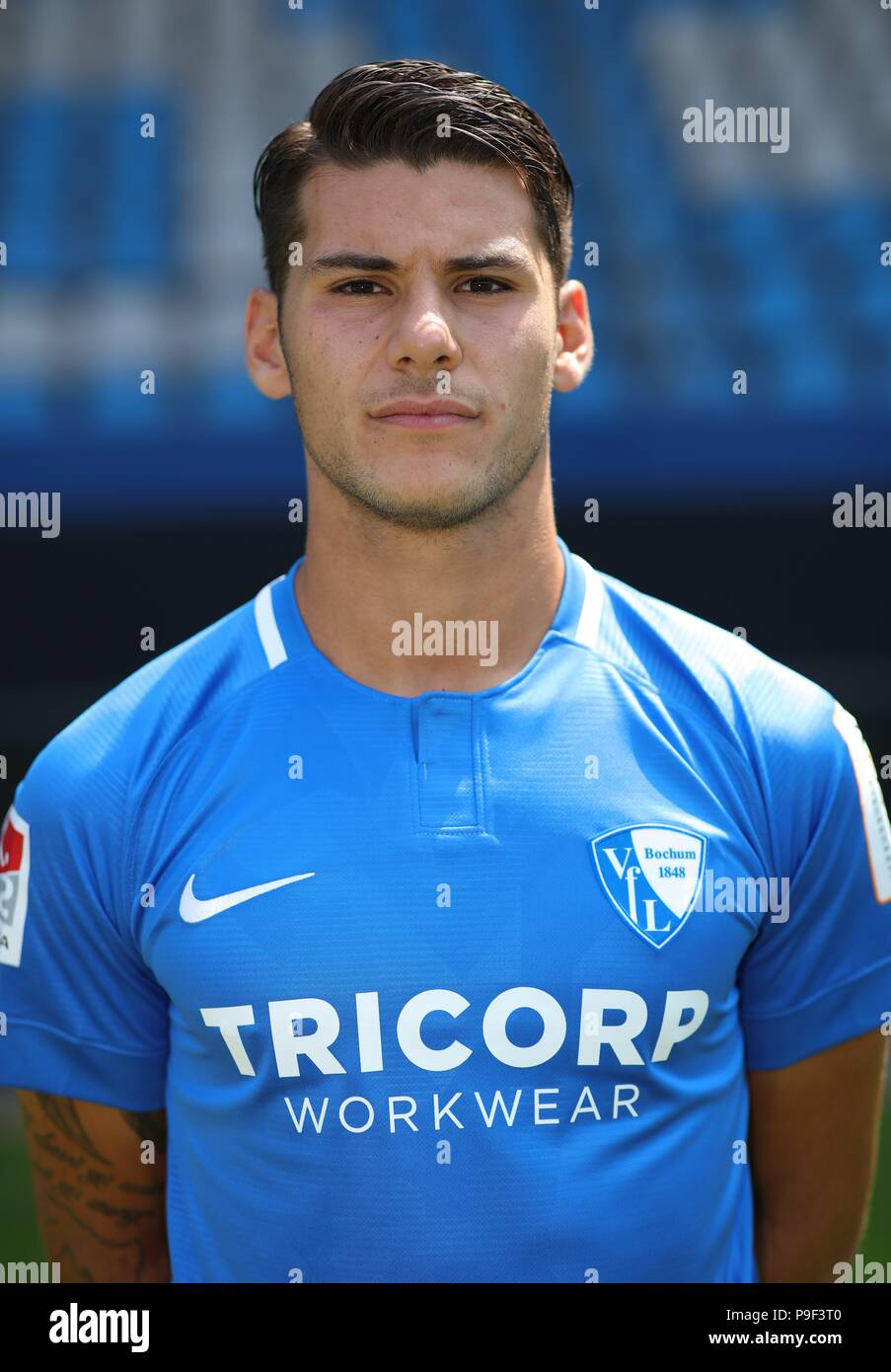 firo: 17.07.2018, football, 2.Bundesliga, season 2018/2019, VfL Bochum, photo shoot, portrait, portrait, Gorkem SAGLAM, | usage worldwide - Stock Image