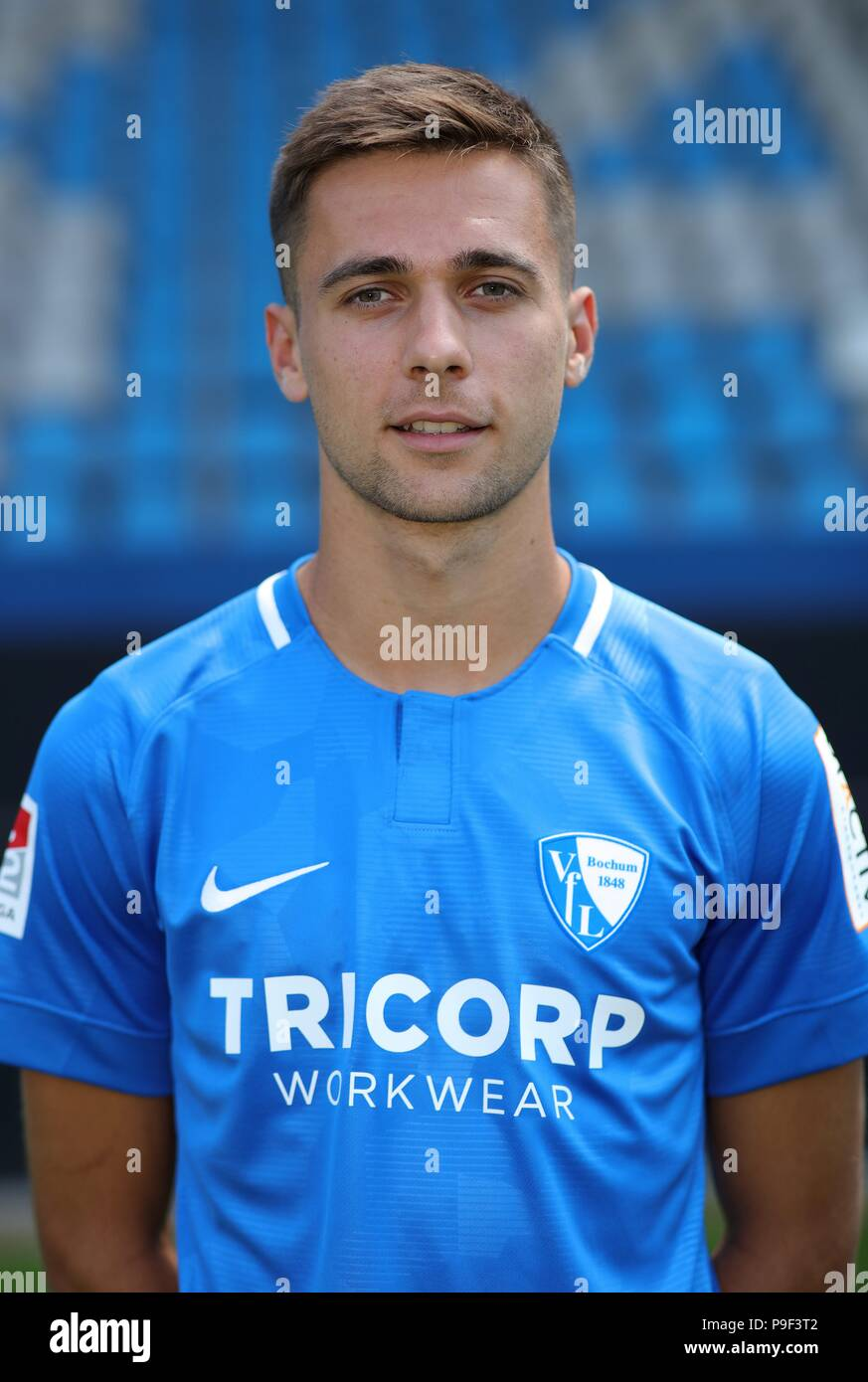 firo: 17.07.2018, football, 2.Bundesliga, season 2018/2019, VfL Bochum, photo shoot, portrait, portrait, Milos PANTOVIC, | usage worldwide - Stock Image