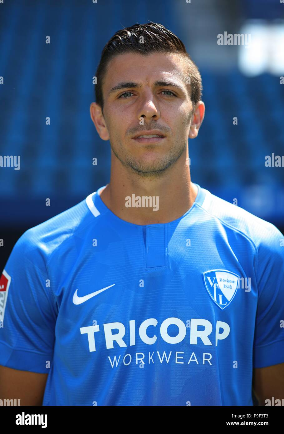 firo: 17.07.2018, football, 2.Bundesliga, season 2018/2019, VfL Bochum, photo shoot, portraits, portrait, Anthony LOSILLA, | usage worldwide - Stock Image