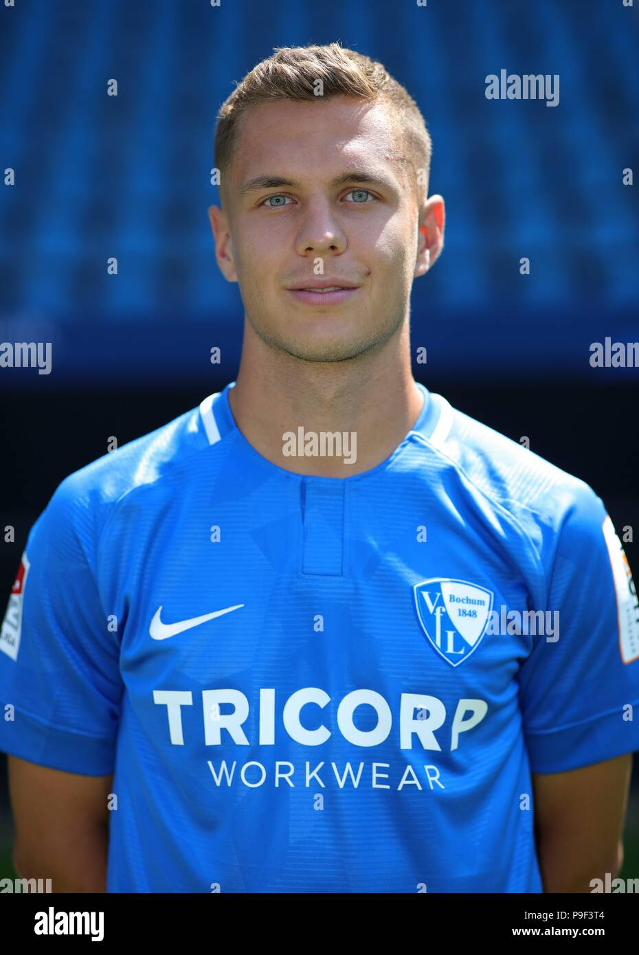 firo: 17.07.2018, football, 2.Bundesliga, season 2018/2019, VfL Bochum, photo shoot, portraits, portrait, Sebastian MAIER, | usage worldwide - Stock Image