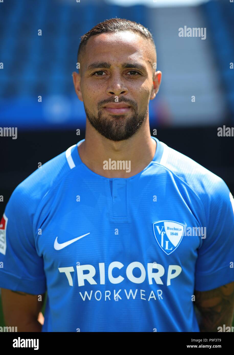 firo: 17.07.2018, football, 2.Bundesliga, season 2018/2019, VfL Bochum, photo shoot, portraits, portrait, Sidney SAM, | usage worldwide - Stock Image