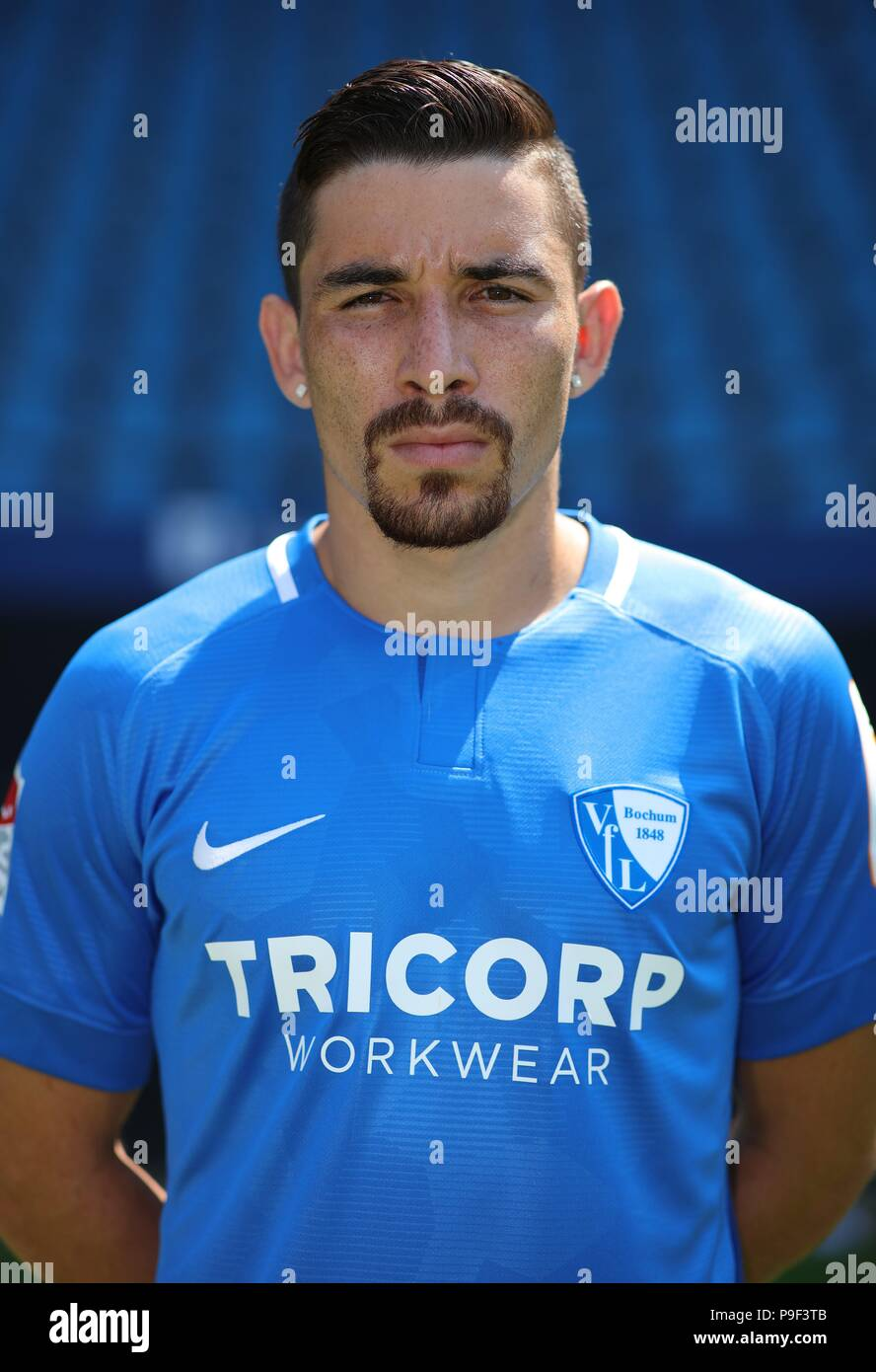 firo: 17.07.2018, football, 2.Bundesliga, season 2018/2019, VfL Bochum, photo shoot, portraits, portrait, Danilo SOARES, | usage worldwide - Stock Image