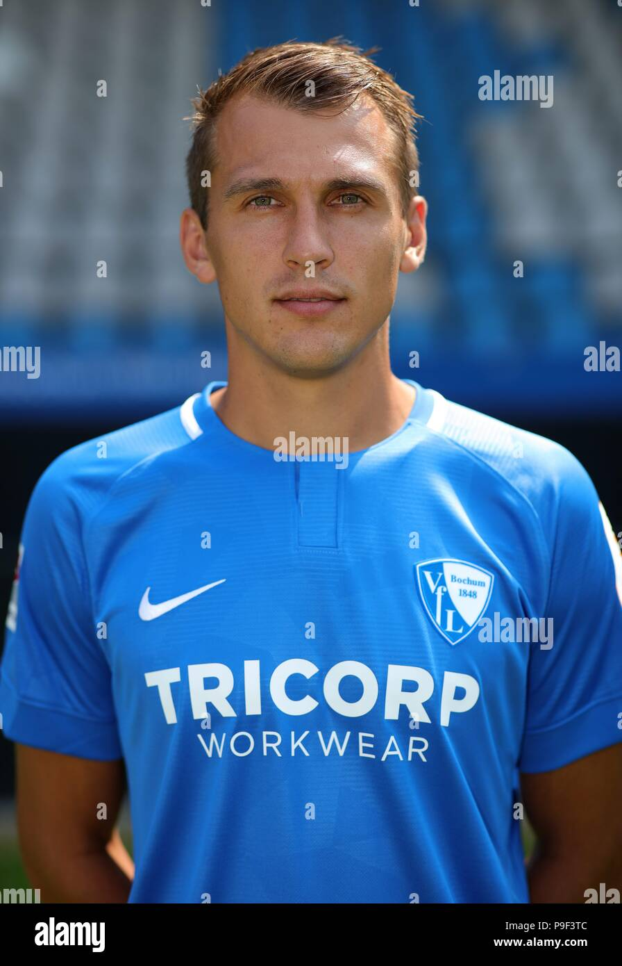 firo: 17.07.2018, football, 2.Bundesliga, season 2018/2019, VfL Bochum, photo shoot, portraits, portrait, Robert TESCHE, | usage worldwide - Stock Image