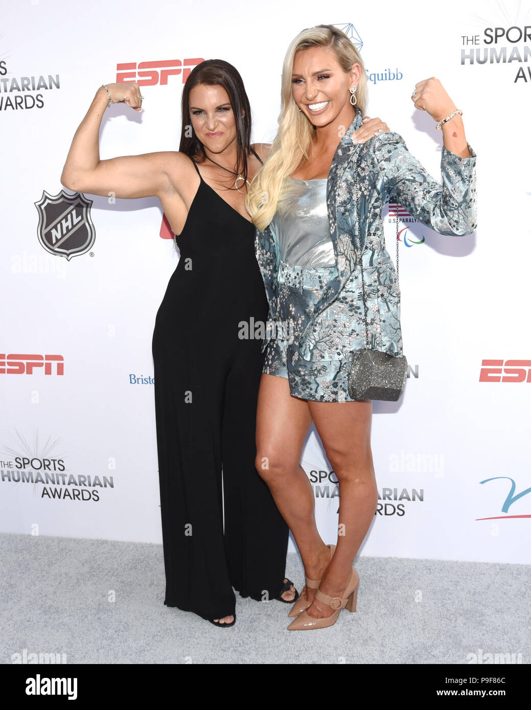 Los Angeles, California, USA. 17th July, 2018. STEPHANIE MCMAHON and CHARLOTTE FLAIR attends the 4th Annual Sports Humanitarian Awards at LA LIVE'S The Novo in Los Angeles. Credit: Billy Bennight/ZUMA Wire/Alamy Live News - Stock Image