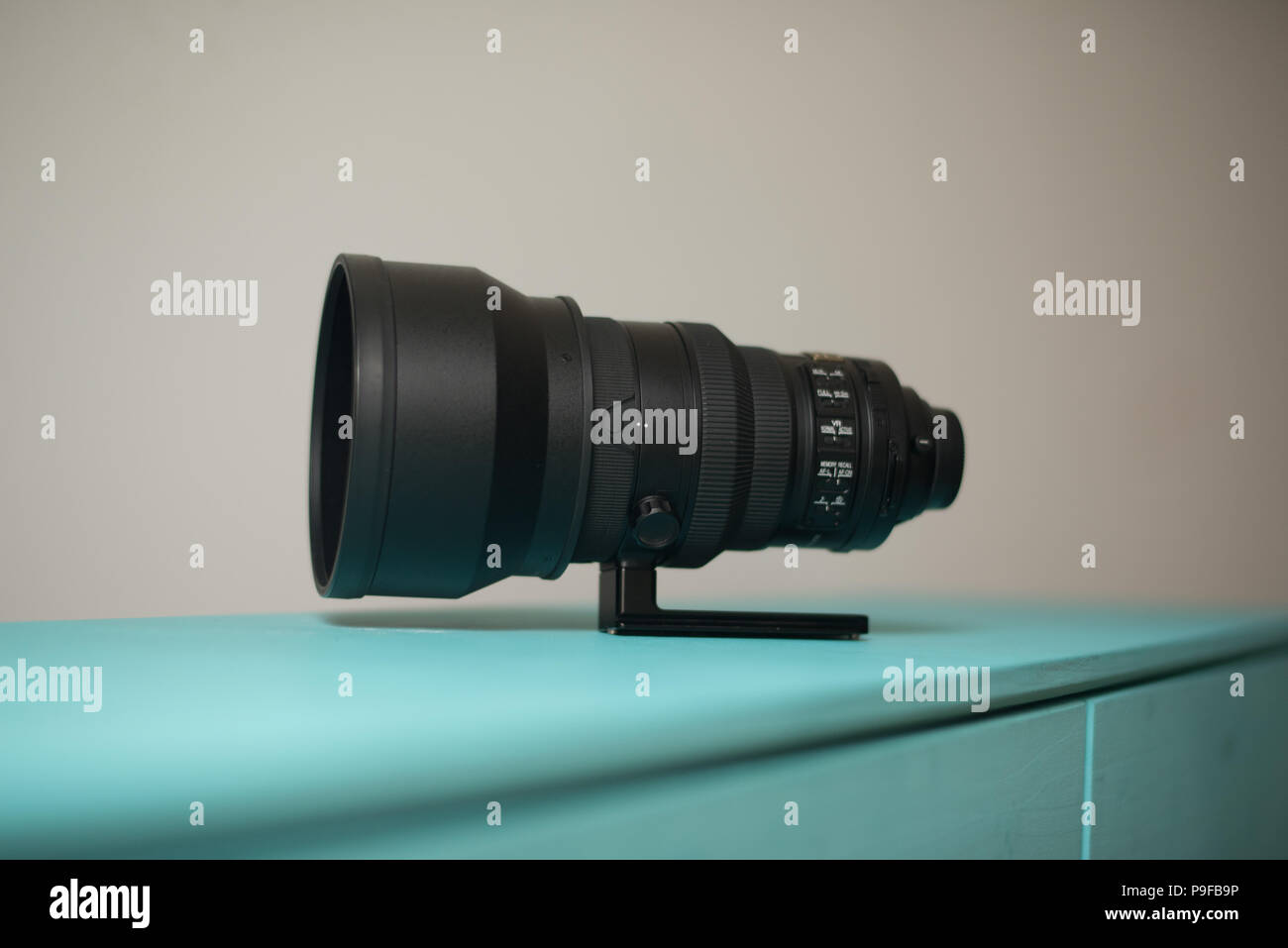 Nikon 200mm f/2 vr ii telephoto lens - Stock Image