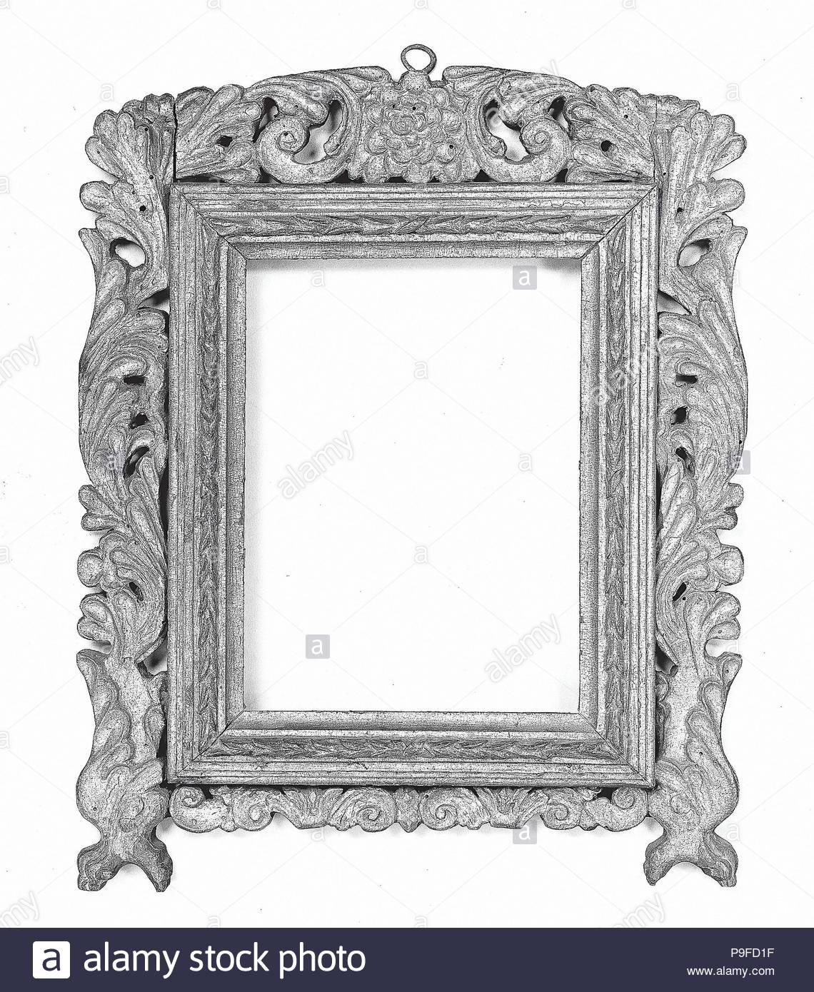 Mirror frame, late 18th century, Northwest Spain (?), Walnut, 34.9 x ...