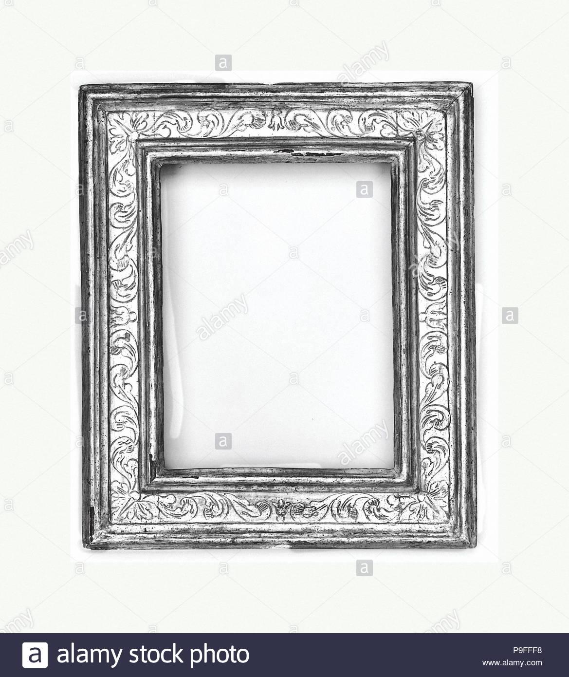 Cassetta frame, mid-to-late 18th century, style mid-17th century, Italian, Bologna, Poplar, 43.5 x 37, 28 x 21.2, 29.3 x 22.3 cm., Frames. - Stock Image