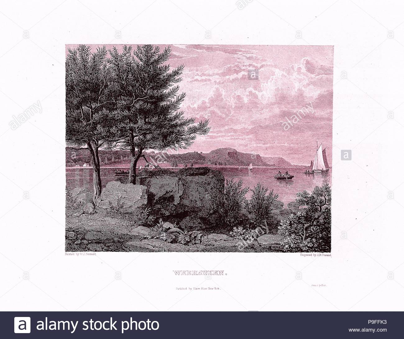 The American Landscape, 1830, Illustrations: engraving, 13 x 10 1/16 in. (33 x 25.5 cm), Books. - Stock Image