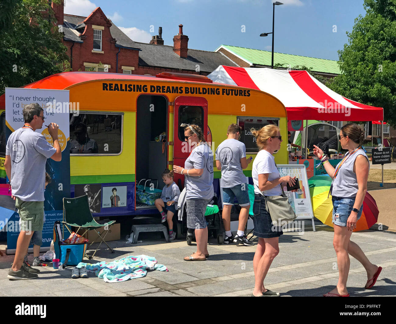 River Reeves Charity, Rivfest18, Palmyra Square, Warrington, Cheshire, North West England, UK - Stock Image