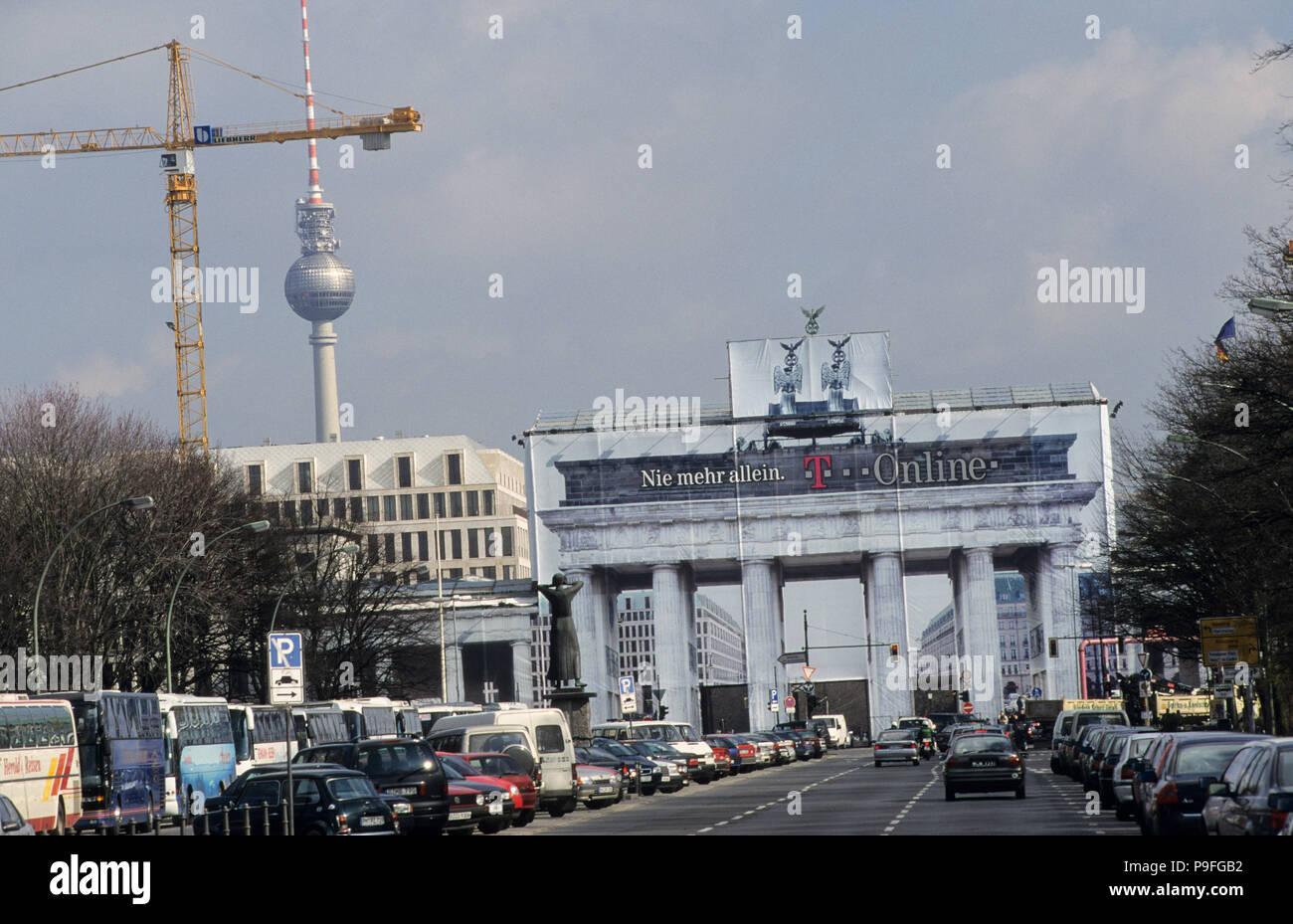 Germany Berlin Brandenburg Gate With Sculpture Quadriga The Roman Goddess Victoria Is Riding A Horse Powered