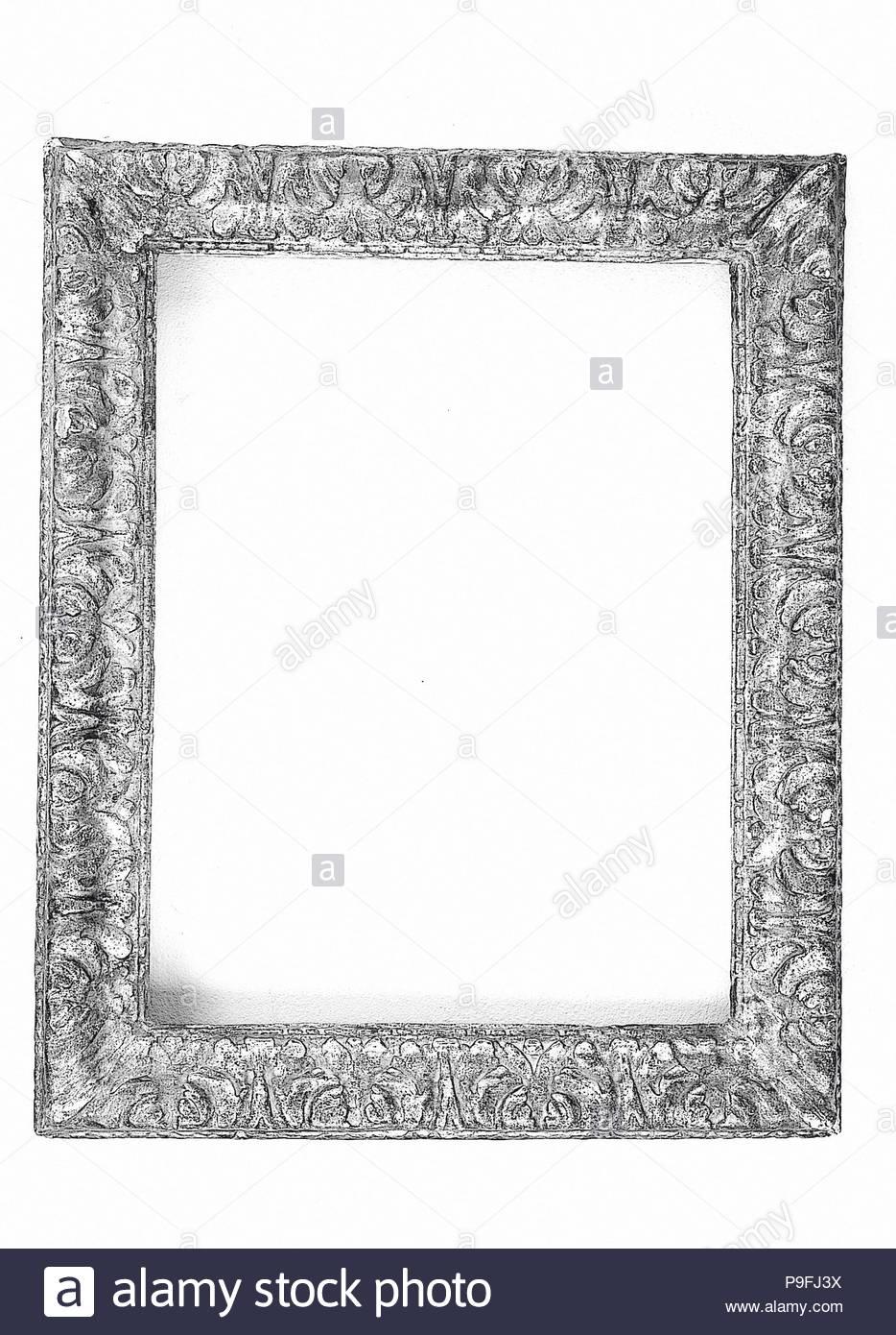 Ogee Frame Ca 1660 Italian Rome Poplar And Walnut Overall 24