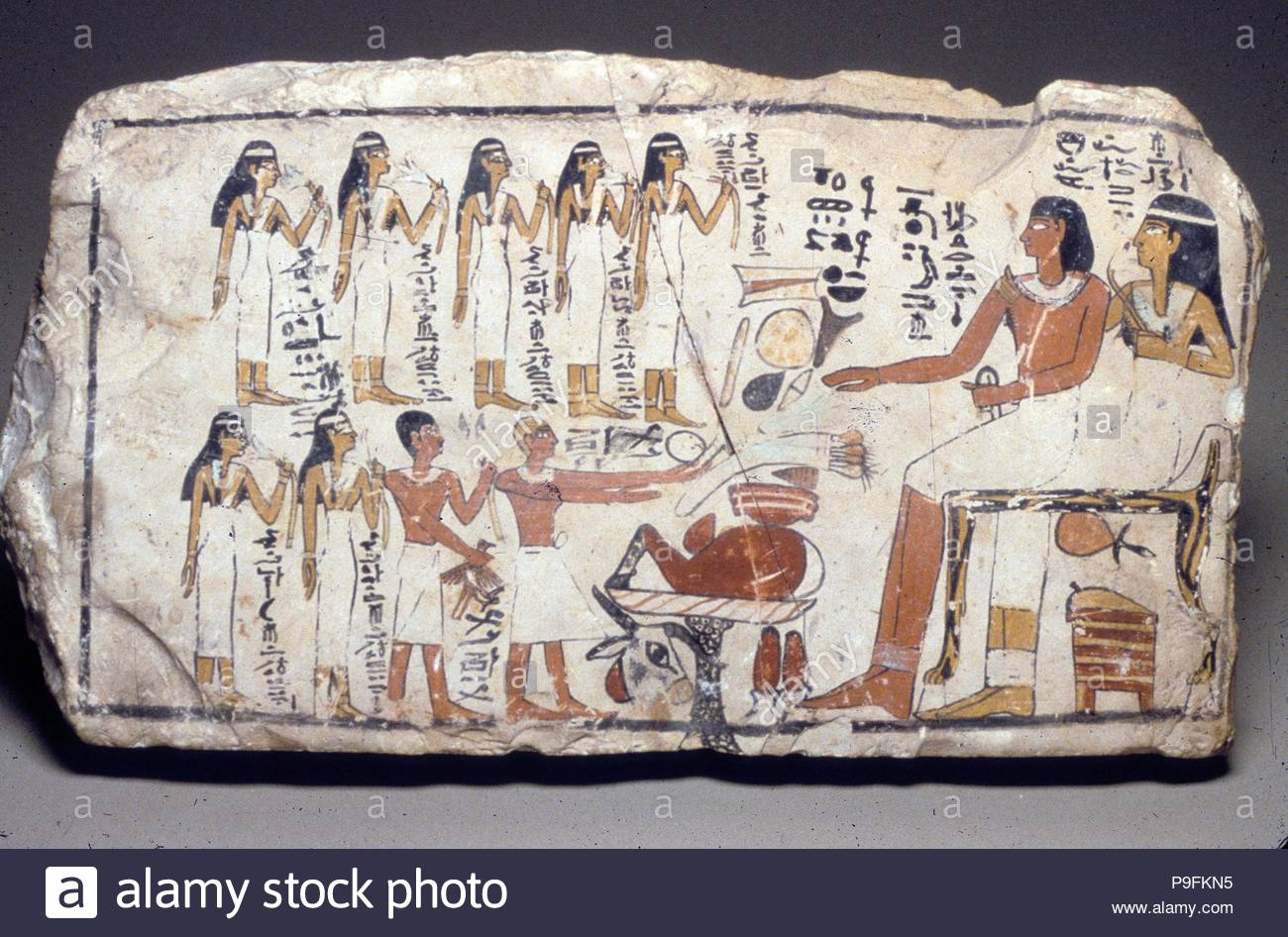 Stela Of Tetu And Nefertjentet First Intermediate Period Middle Kingdom Dynasty 11 Ca 2124 1981 BC From Egypt Upper Thebes Asasif East The