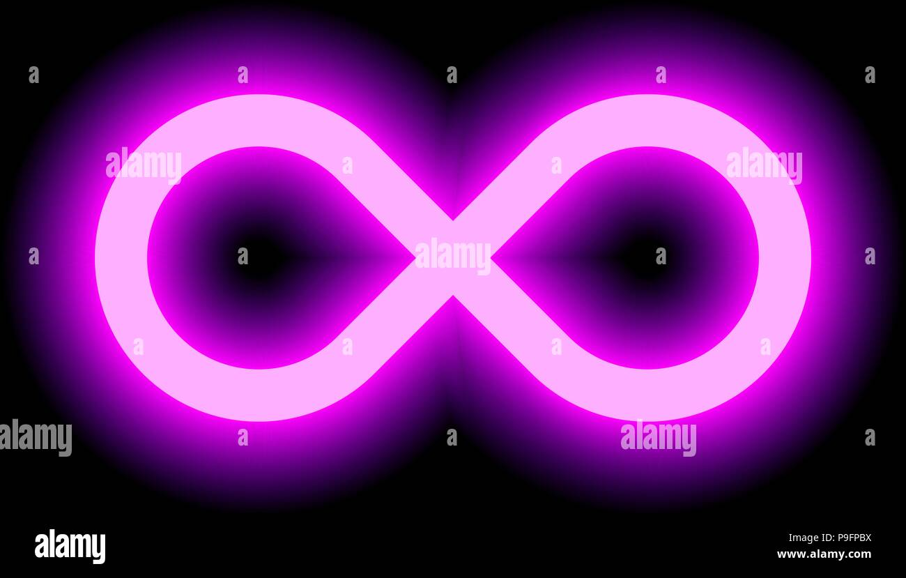 Infinity Symbol Purple Light Color Tint Glow With Transparency Eps