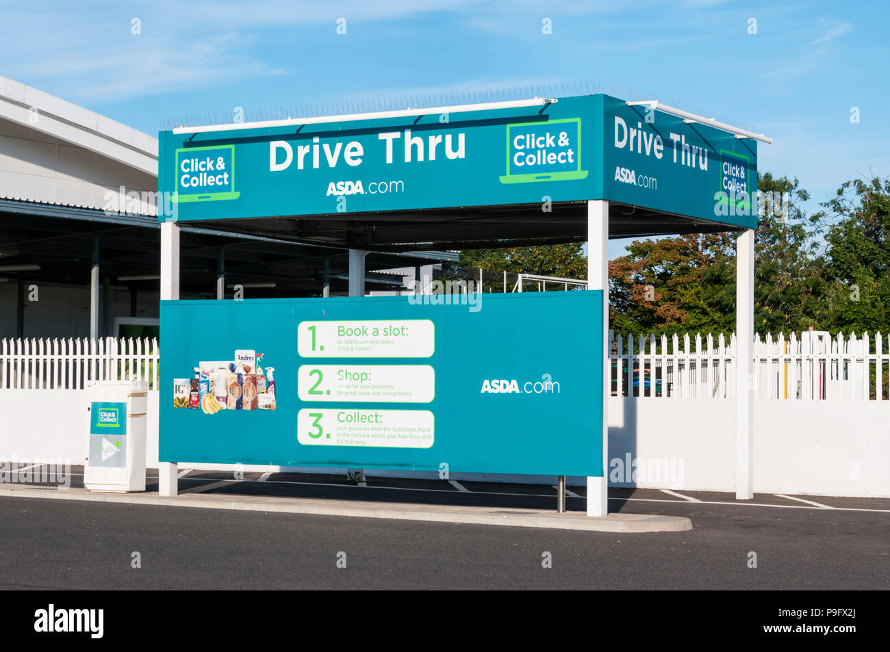 asda car park stock photos asda car park stock images alamy. Black Bedroom Furniture Sets. Home Design Ideas