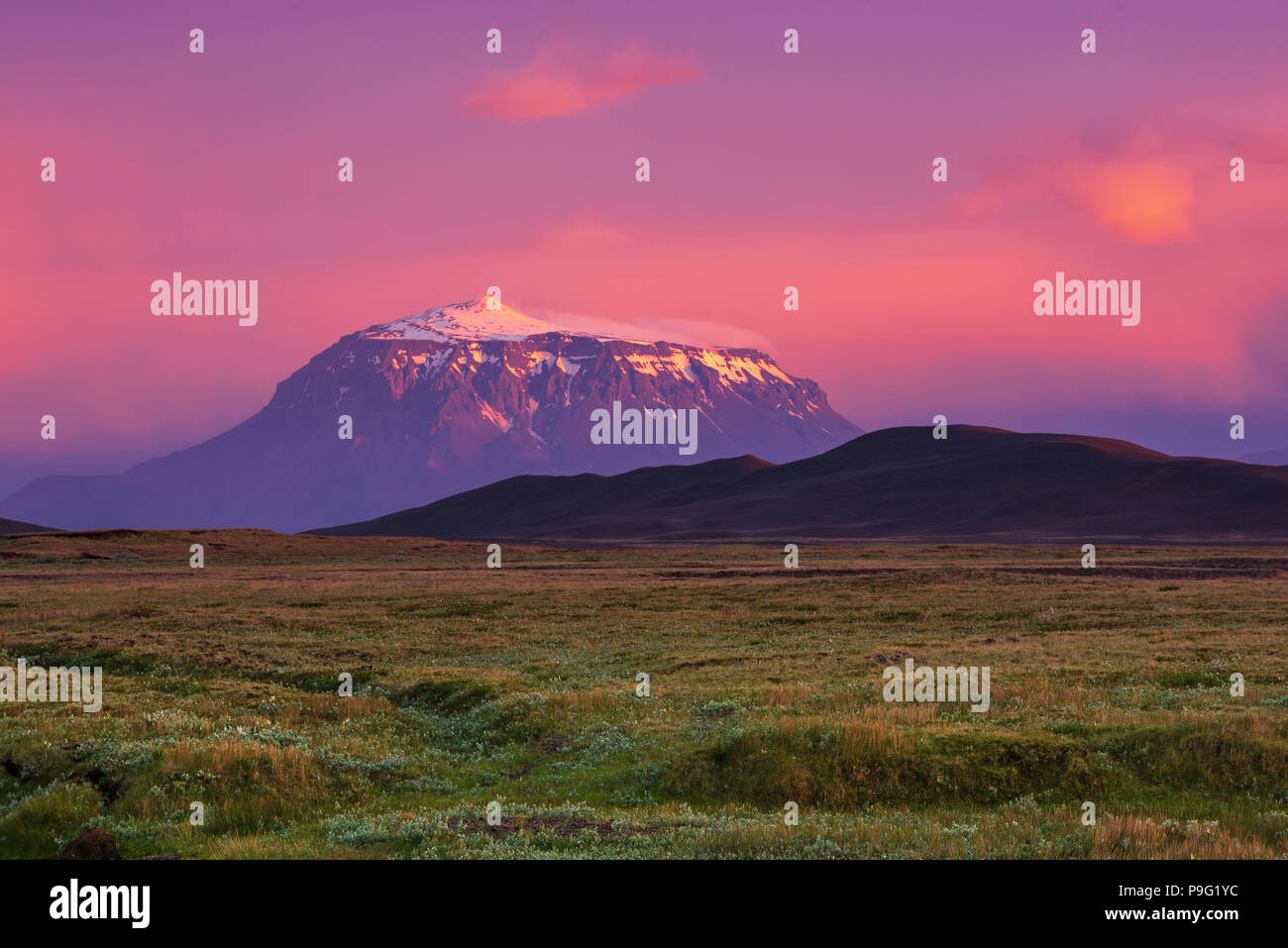 Mountain at sunset - Stock Image