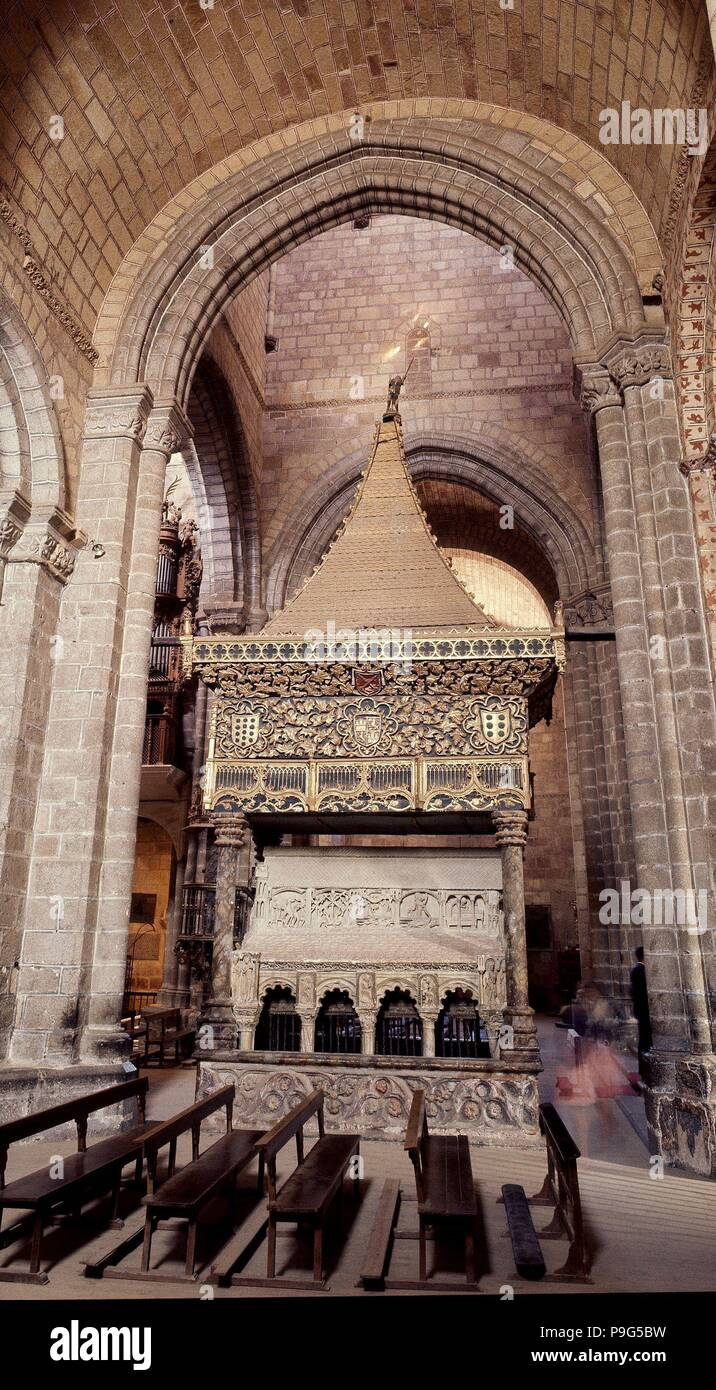 Cenotafio De Los Santos Martires Location Basilica De San Vicente Avila Spain Stock Photo Alamy