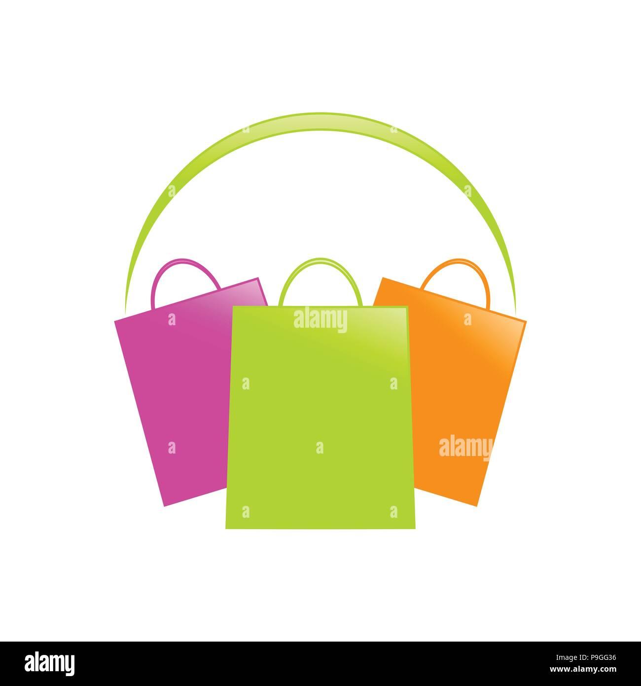 Shopping Shopping Center Vector Symbol Graphic Logo Design Template - Stock Vector