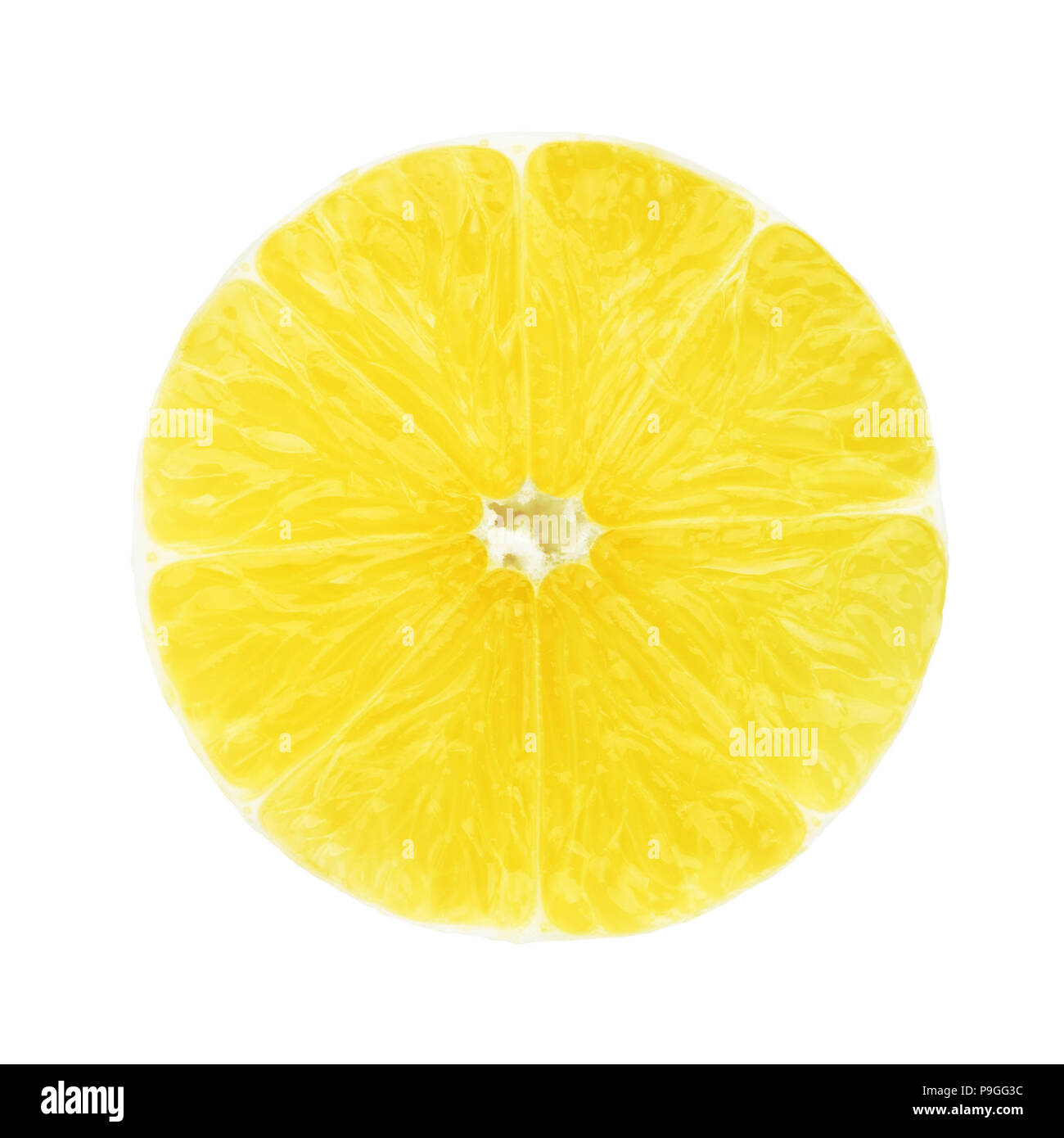 a slice of lemon without Peel - Stock Image