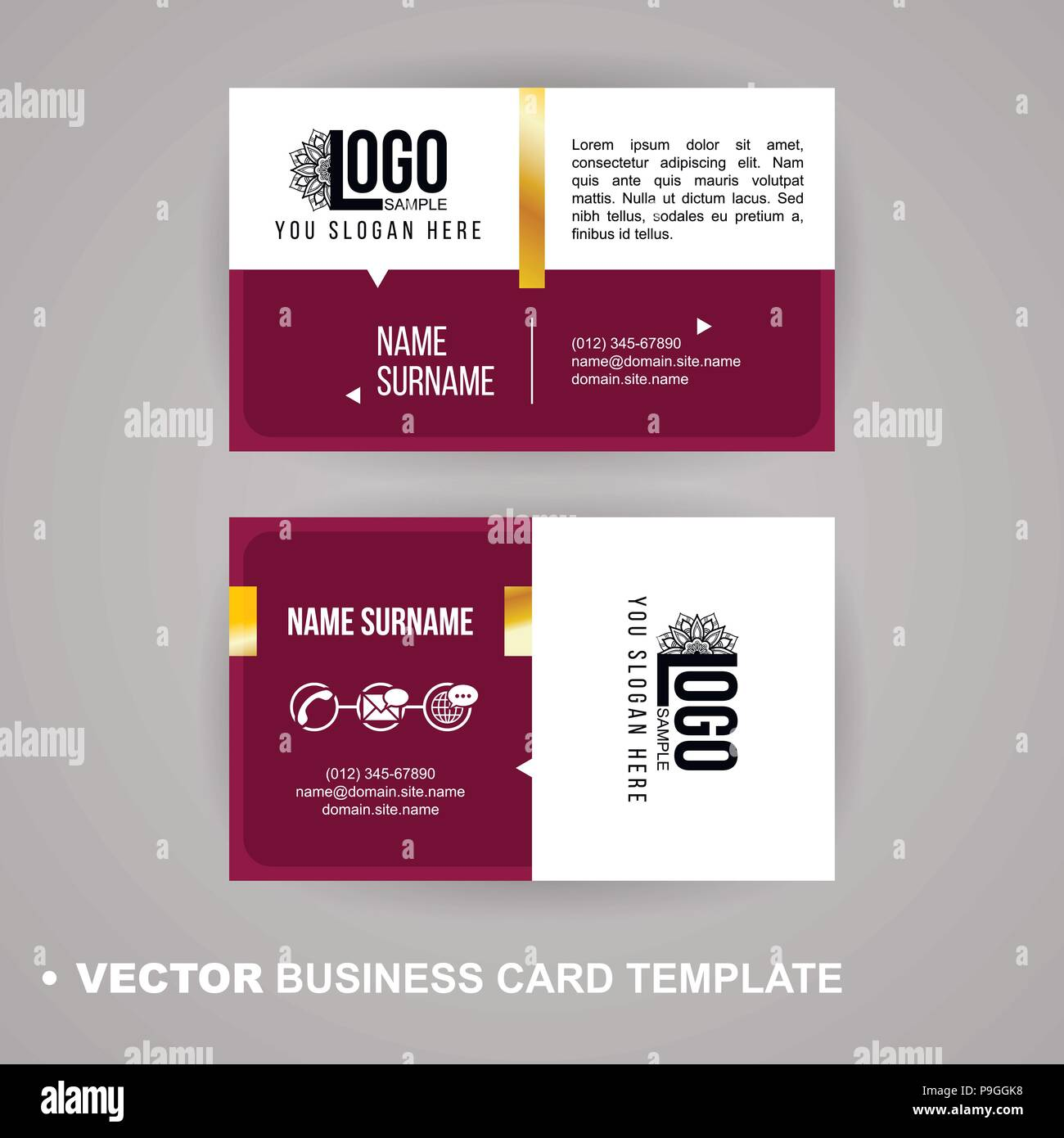 Vecrot business card template. Modern abstract luxury style for ...