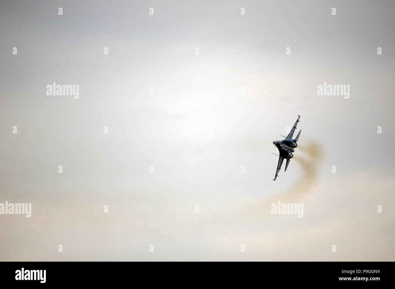 cold war aircraft, Sukhoi Su-27  Flanker - Stock Image