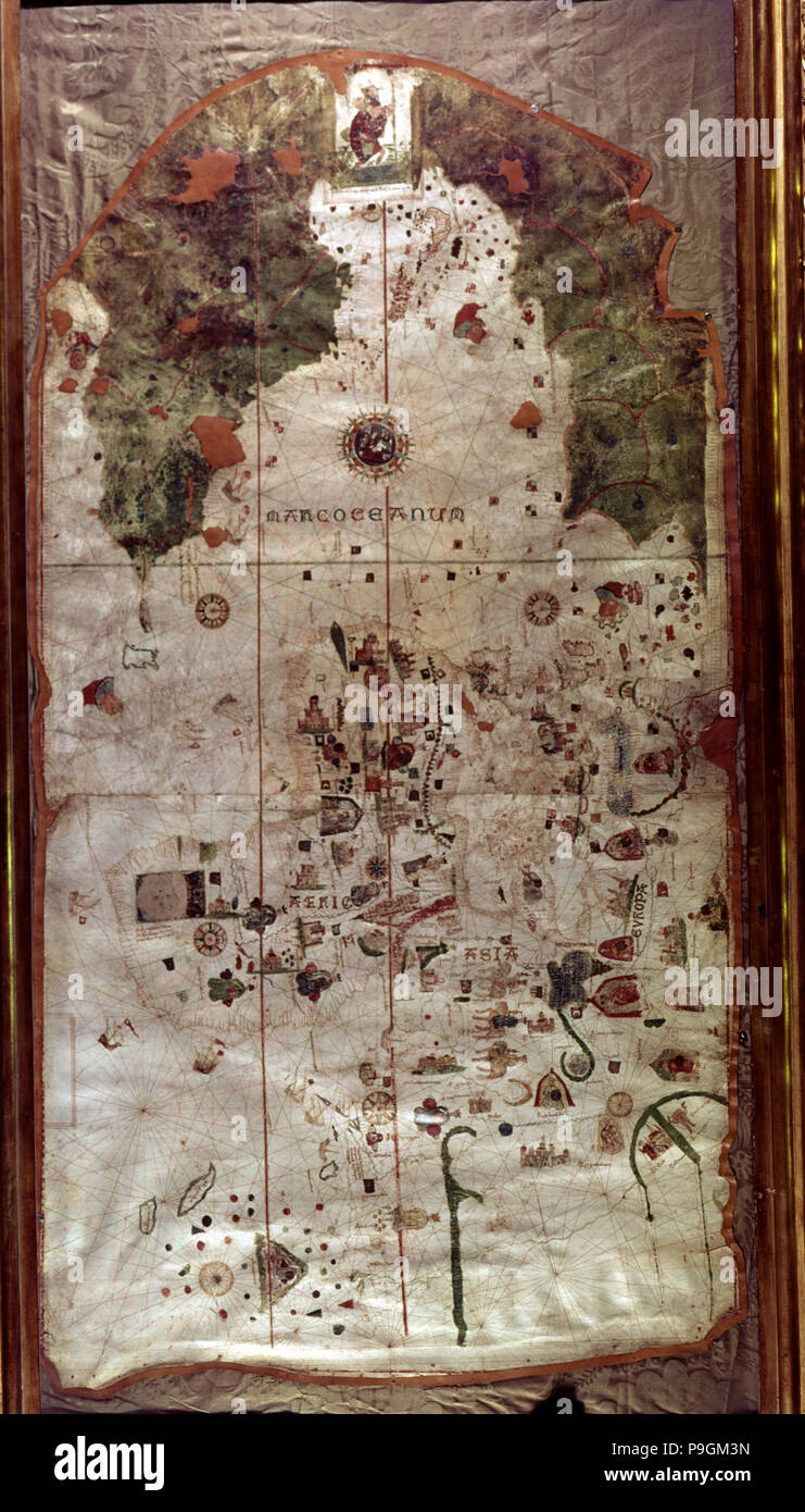 Map Of Spain 1500.Map Of Spain 1500 Work By The Spanish Cartographer And Pilot Juan
