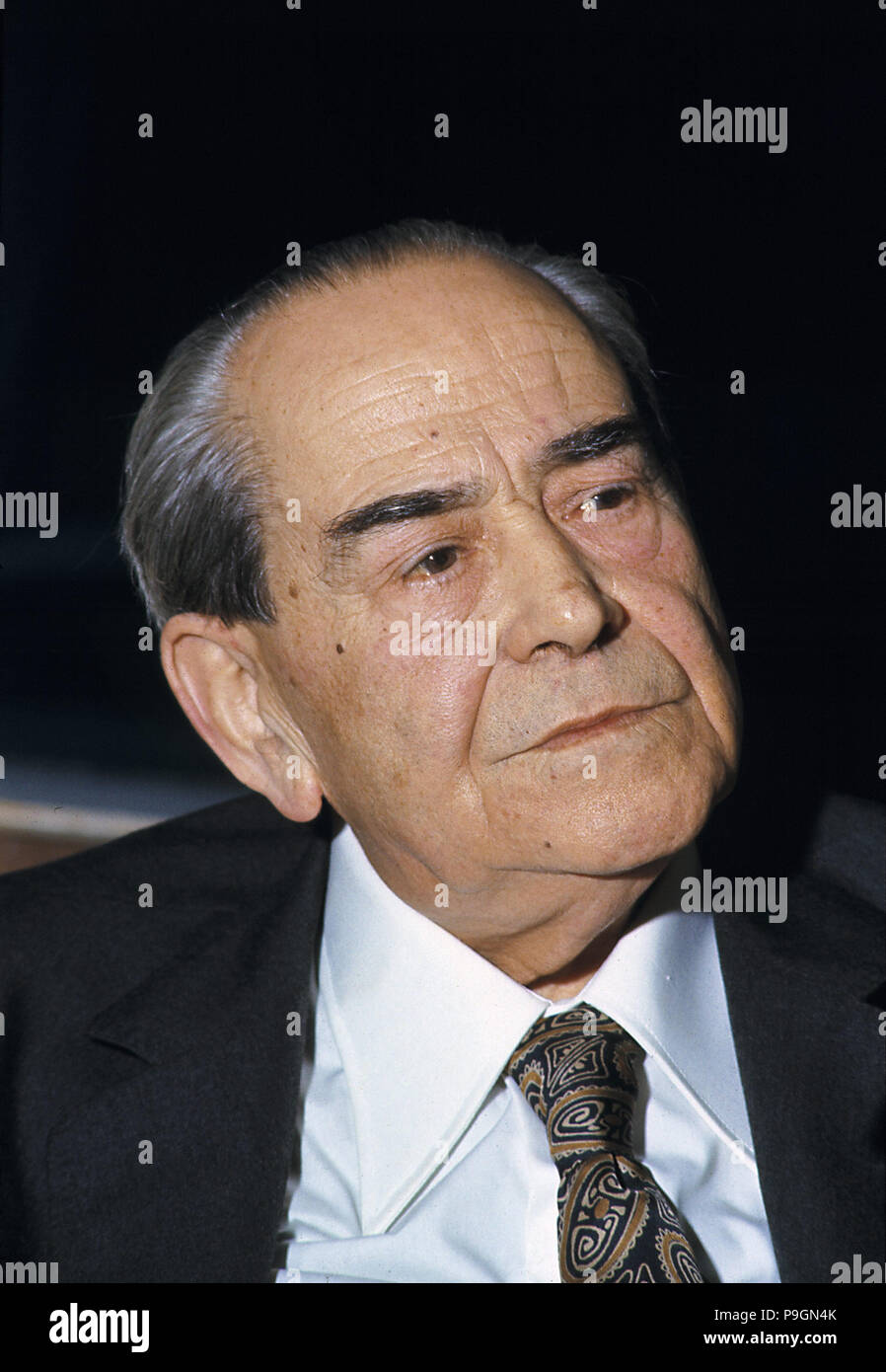 Rodolfo Llopis (1895-1983), Spanish politician, photo 1980. - Stock Image