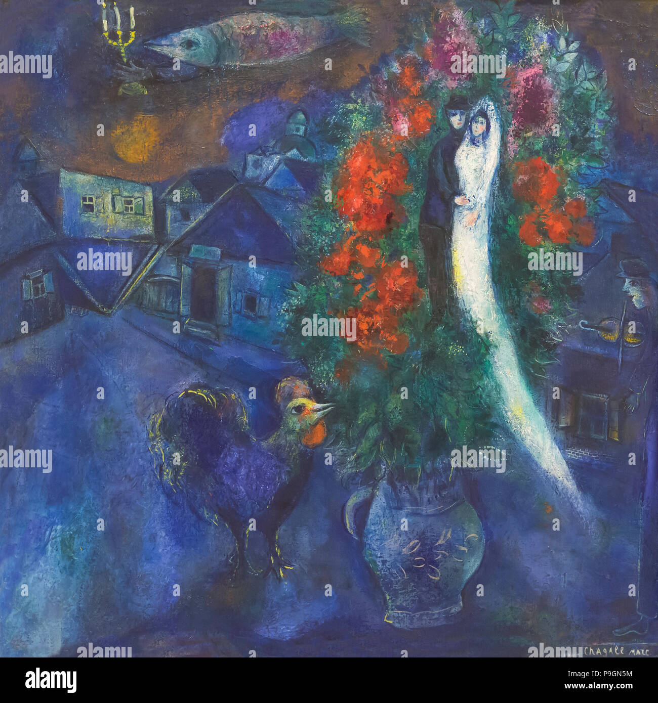 The Flying Fish, Marc Chagall, 1948, Albright-Knox Art Gallery, Buffalo, New York, USA, North America Stock Photo