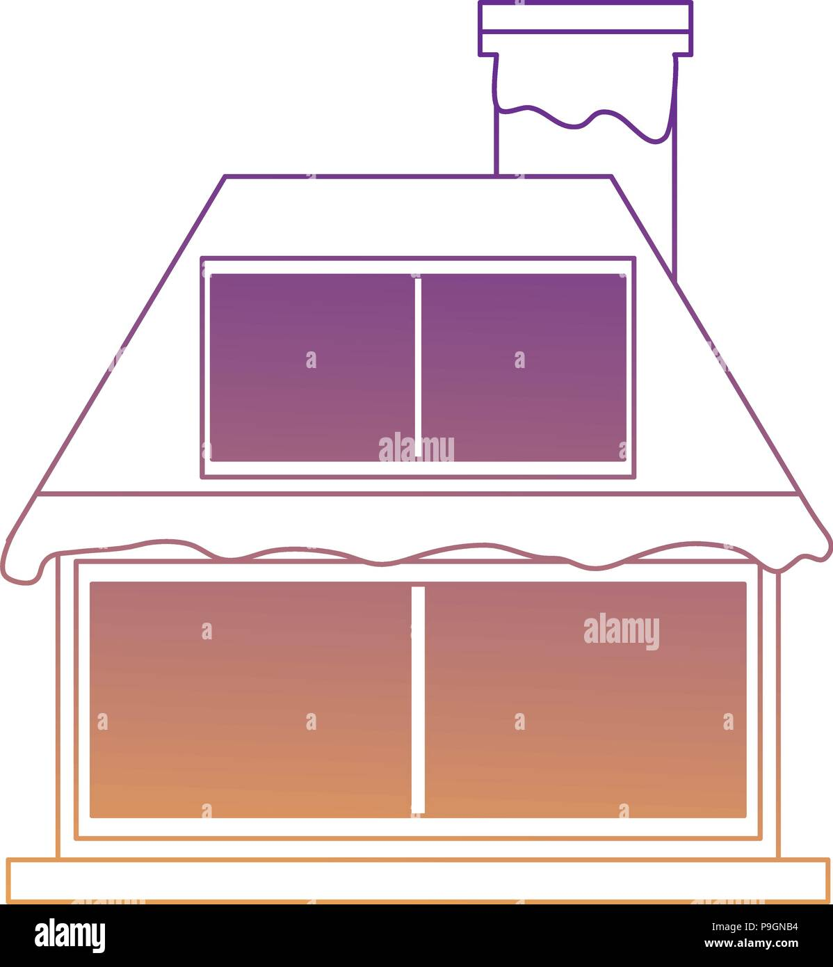 cabin house icon over white background, vector illustration - Stock Vector