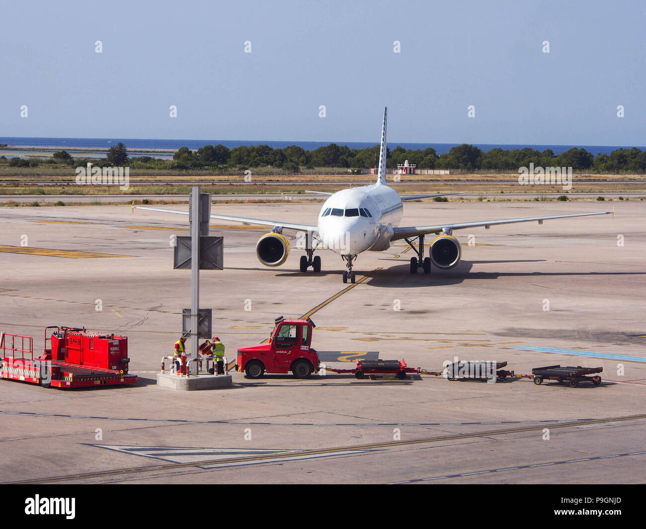 An Airbus A320 belonging to Vueling.com - Stock Image