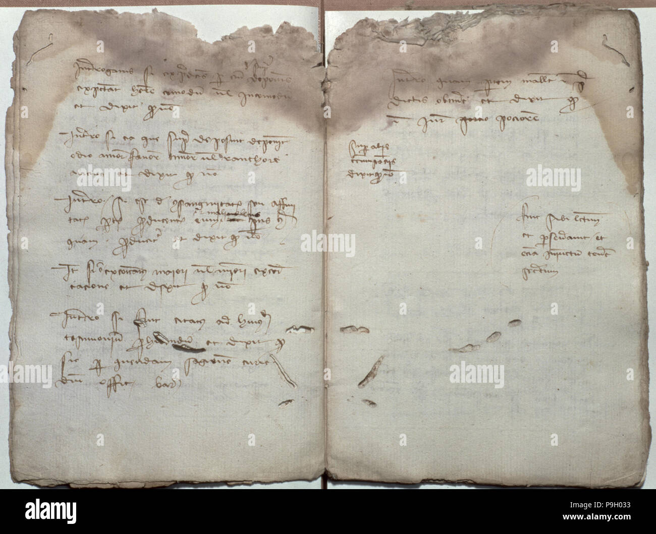 Document of acceptance of bills of exchange among merchants from Barcelona and Florence (1411). - Stock Image