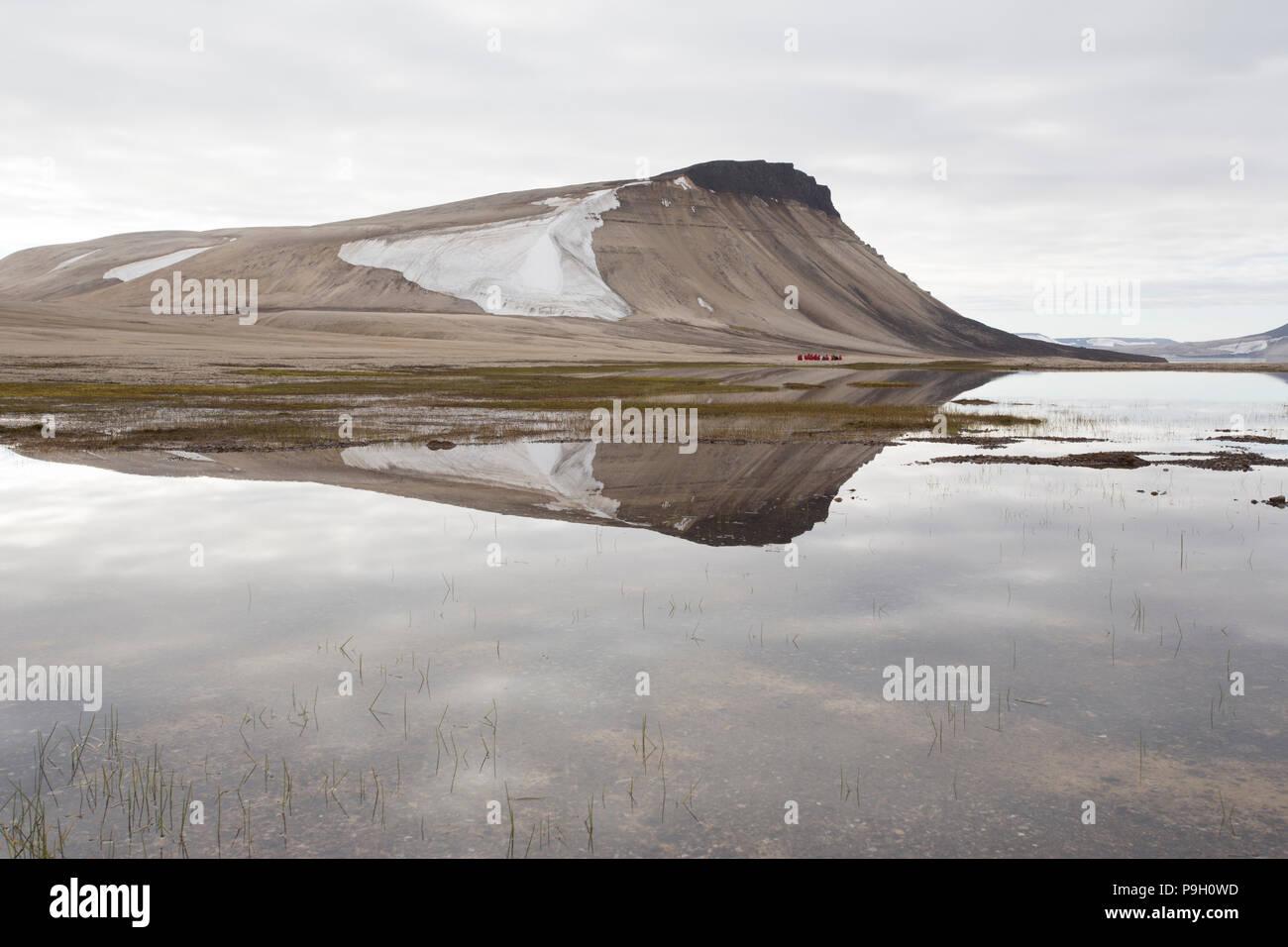 A Polar Desert. Zeipelodden, Svalbard - Stock Image